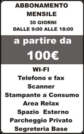 abbonamento-mensile Lavoratorio Coworking Bagnoli Napoli